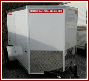 White enclosed trailers in Erie County, OH